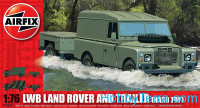 LWB Land Rover and trailer (hard top)