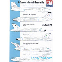 Decal 1/144 for V-Bombers in anti-flash white