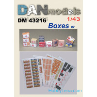 Paper material for diorams.Cardboard boxes in stock. Set # 2