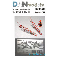 Photo-etched set 1/72 Crew ladders for Su-27UB, Su-30