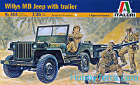 Willys Jeep with trailer