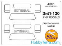 Mask 1/43 for ZIL-130 (Double sided), for AVD Models kit