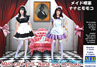 Maid cafe girls. Nana and Momoko