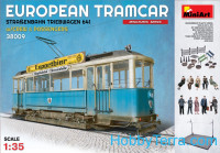 Europian Tramcar (Strasendahn Triebwagen 641) with crew and passengers