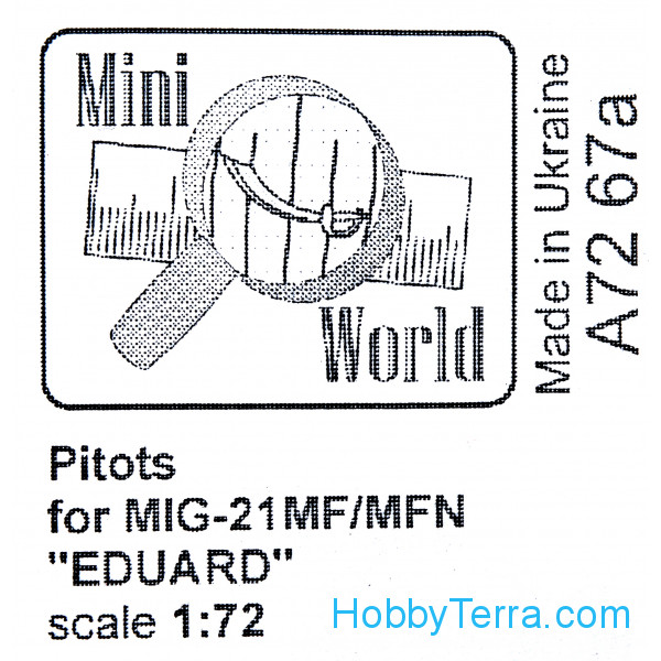 Mini World  7267a Pitots for MiG-21MF, for Eduard 70141 kit