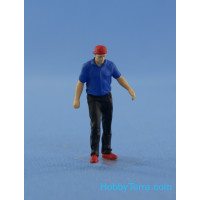 Resin figure of mechanic (driver), type 3