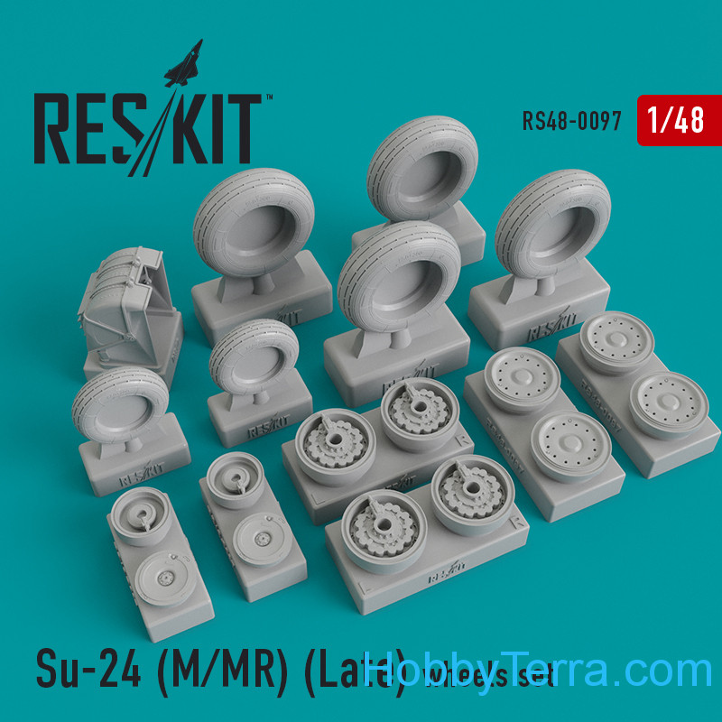 RESKIT  48-0097 Wheels set for Su-24 (M/MR), Late Type