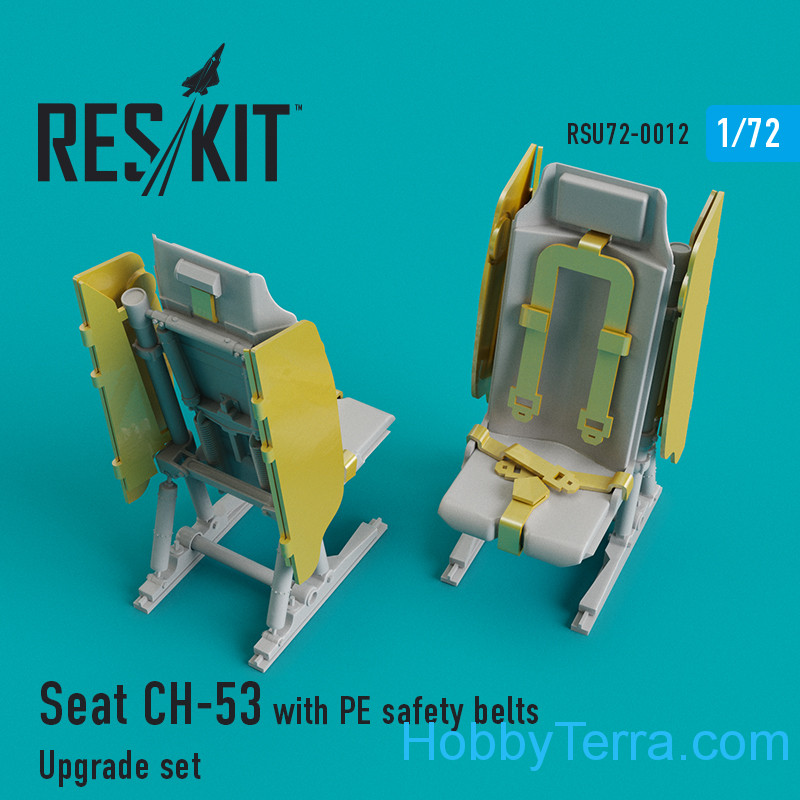RESKIT  72-0012 Upgrade Set for CH-53 Seat with PE Safety Belts