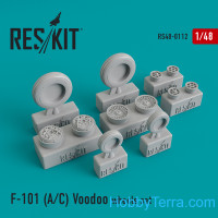 Wheels set 1/48 for McDonnell F-101 (A/C)