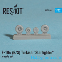 Wheels set 1/72 for F-104 (G/S) Turkish Starfighter