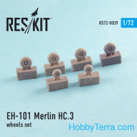 Wheels set 1/72 for EH-101 Merlin HC.3, for Italeri/Revell kit