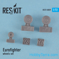 Wheels set 1/72 for Eurofighter Typhoon, for HobbyBoss/Revell kit