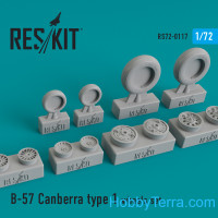 Wheels set 1/72 for B-57 Canberra (type 1)