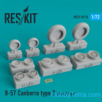 Wheels set 1/72 for B-57 Canberra (type 2)