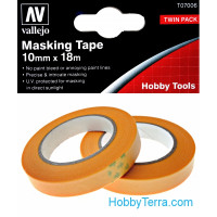 Masking tape 10mm x 18m, 2 pcs