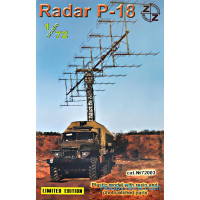 P-18 Soviet radar vehicle, plastic/resin/pe